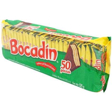 BOCADIN SABOR CHOCOLATE CON 50 PZAS