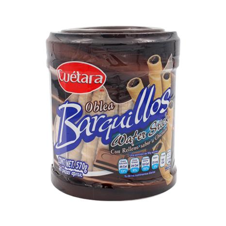 BARQUILLO RELLENO CHOCOLATE CUETARA 570 G