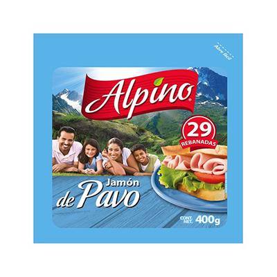 JAMON DE PAVO REB ALPINO 400 GRS PIEZA
